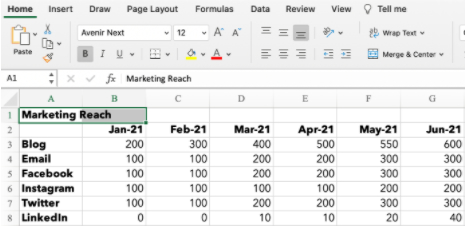 merging two cells in excel