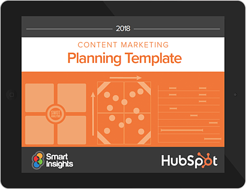 a content planning and goal setting template from HubSpot