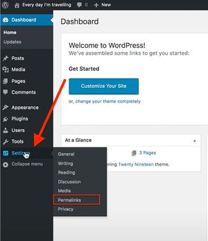 How to change permalink structure on WordPress