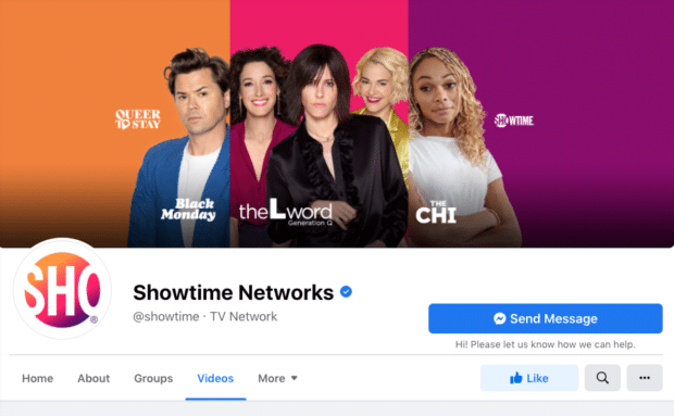 Showtime Networks verified account