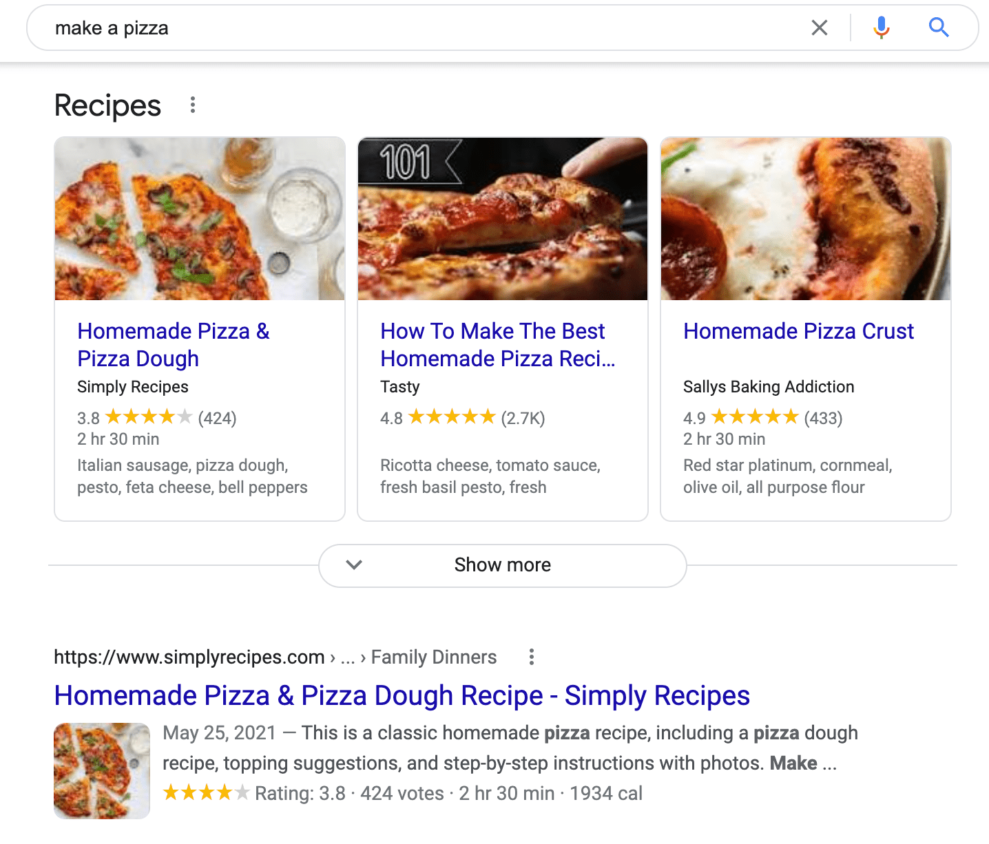 search results for the search term make a pizza