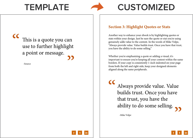 an example of a highlighted quote on an ebook template